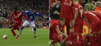 """VIDEO: Everton-puolustajalta oksettava taklaus! – """"Kamalan näköistä"""""""